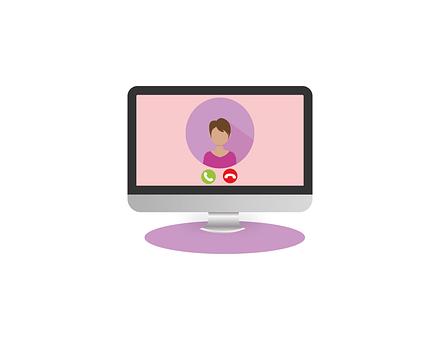 Videokonferenz, Frau, Videocall, Webinar
