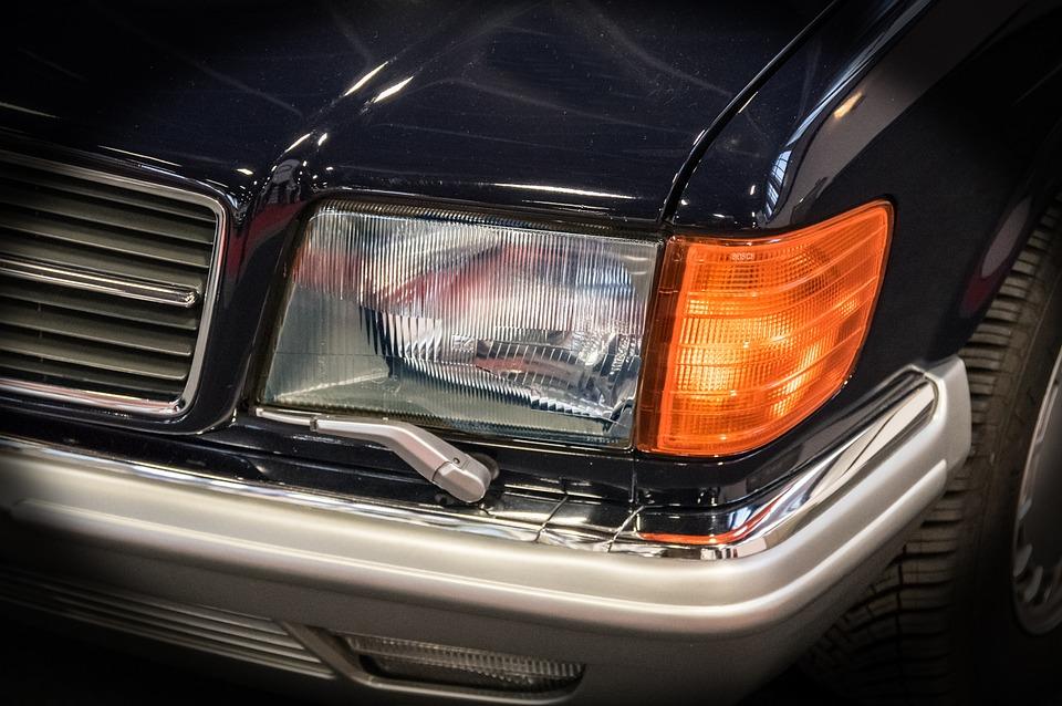 スポットライト, ブリンカー, ヘッドライトワッシャシステム, 自動, 自動車, メルセデス, 光, 車両