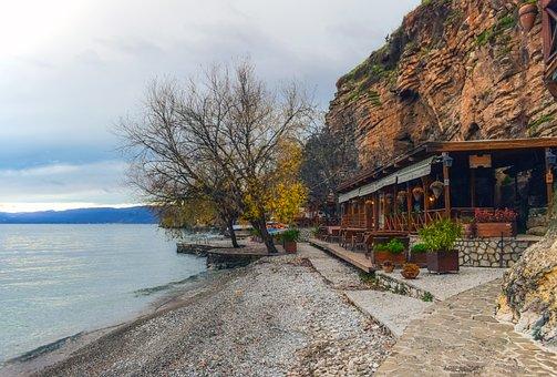 Παραλία, Πρωί, Τοπίο, Οχρίδα