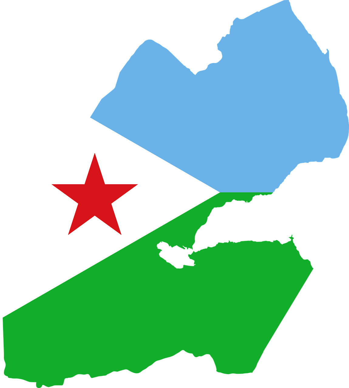 Djibouti Flag Map Free Vector Graphic On Pixabay