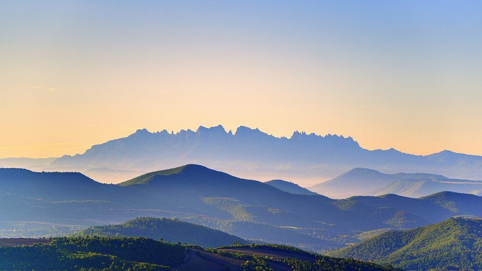 Landskaber, Natur, Montserrat, Bjerge, Skov, Nat, Grøn