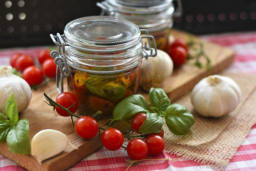 Tomatoes, Oil, Herbs, Cook, Dry, Oven