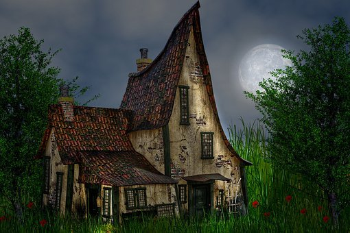 The Night, Moon, Nature, Night, House