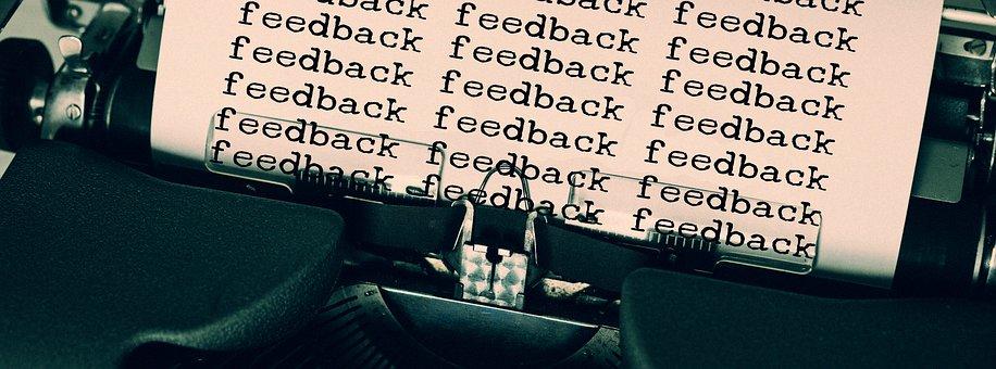 Schreibmaschine, Feedback, Rückmelden