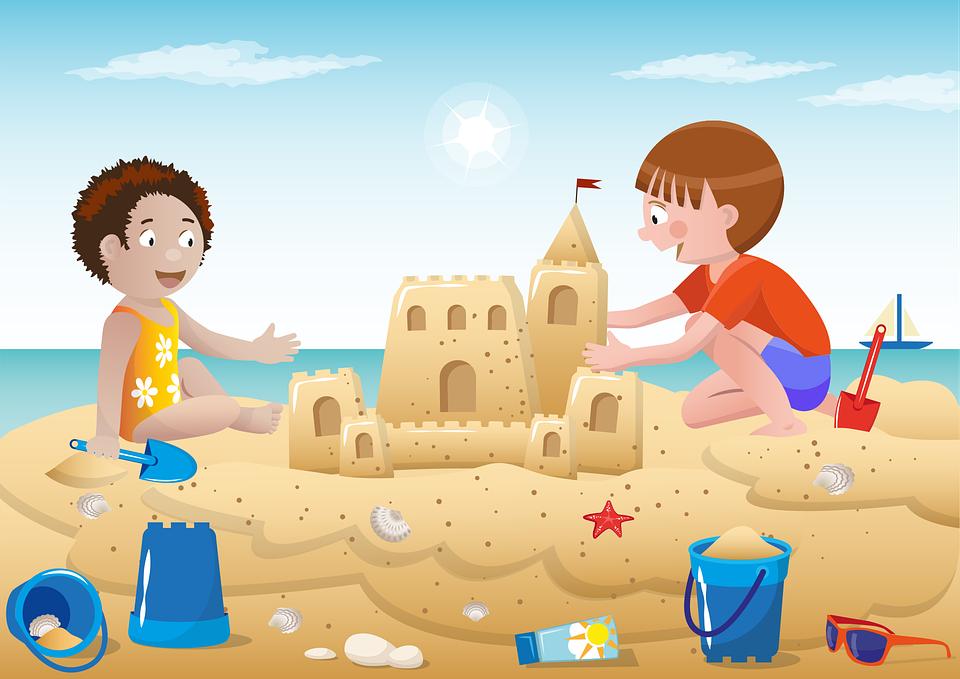 Beach, Sea, Play, Holiday, Vacation, Child Children