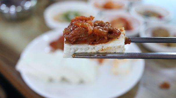 Tofu, Tofu Kimchi, Korean Food, Kimchi