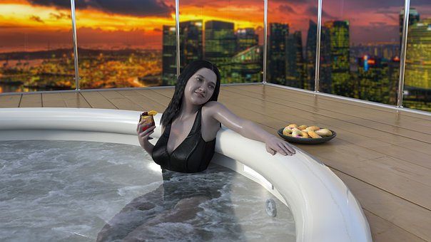 Hot Tub, High Rise, Upper Class, Casual