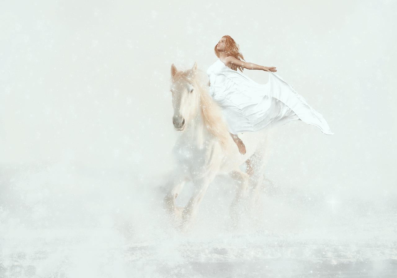 Fantasy Horse White Woman Free Image On Pixabay