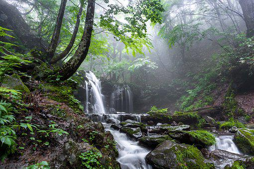Landscape, A Small Waterfall