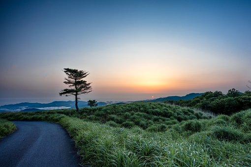 Landscape, Sunrise, Plateau