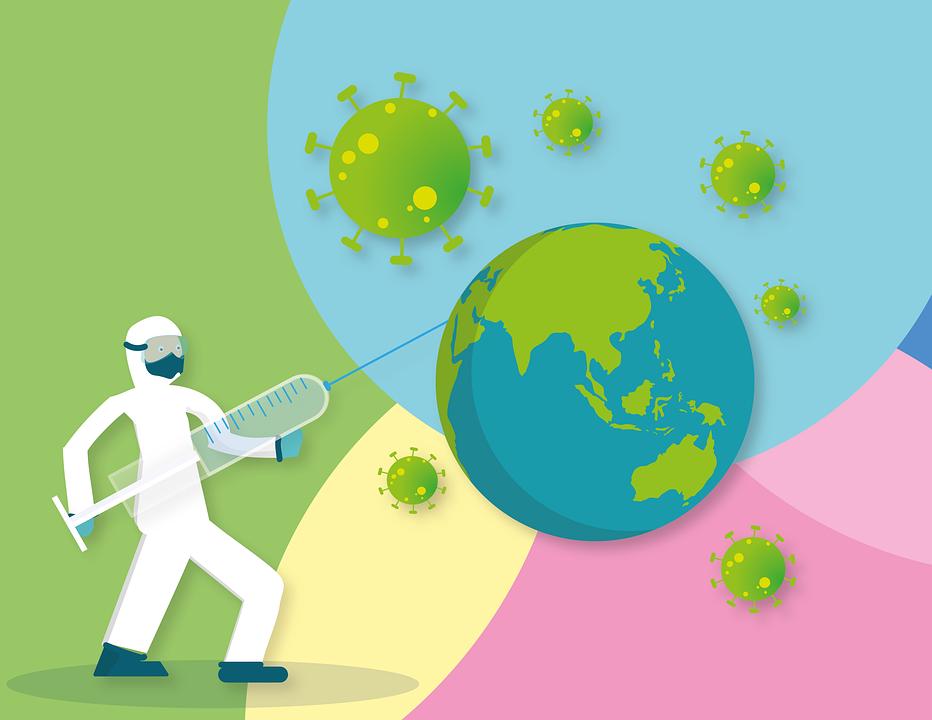 コロナ, 世界, ワクチン接種, ウイルス, パンデミック, コロナウイルス, ヘルスケア