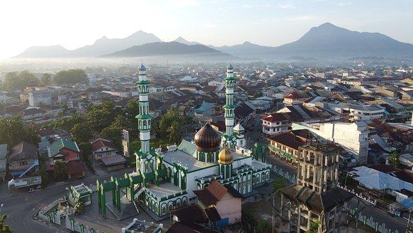 Mosque, Prayer, Drone, Aerial