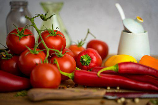 Tomatoes, Salsa, Food, Kitchen, Mexican