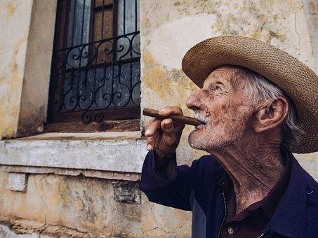 Portrait, Man, People, Cuba, Person, Man