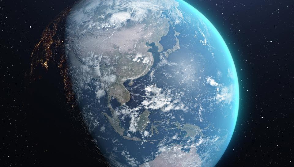 Ziemi, Przestrzeń, 3D, Render, Realistyczny