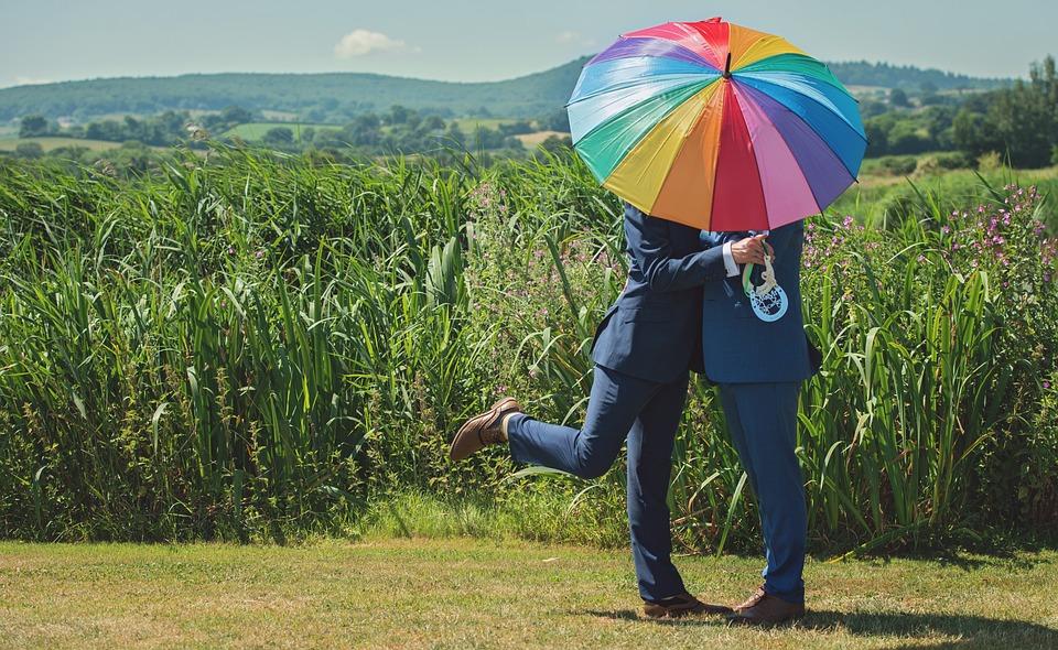 Rainbow, Gay, Couple, Homosexual, Lgbt, Pride