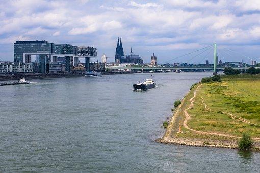 Rhine, Dom, Crane Homes, River, Church
