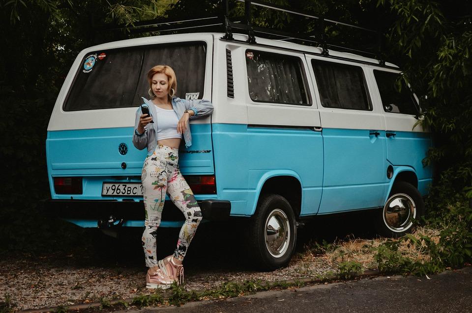 Volkswagen Mobil Box Gadis Orang Foto Gratis Di Pixabay