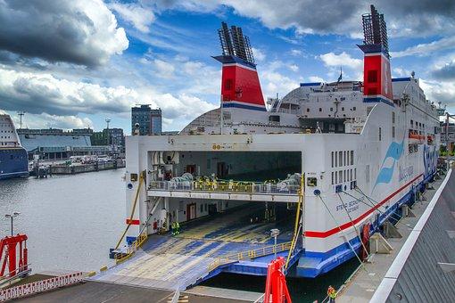 Ferry, Kiel, Germany, Car Ferry, Ship