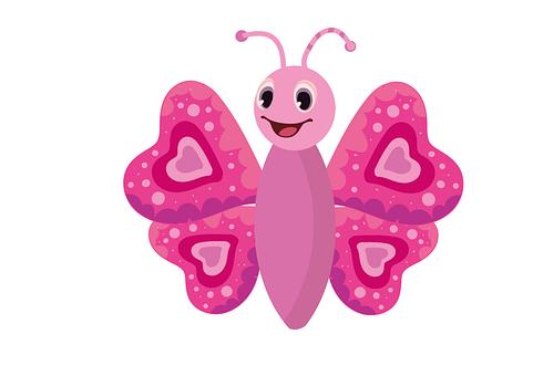 Schmetterling, Insekt, Rosa, Natur