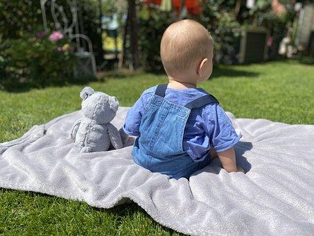 Dziecko I Miś, Na Suficie, Na Łące zabawki dla dzieci