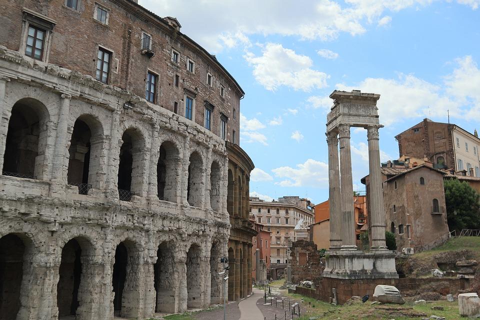 Roma, Rovine, Colosseo, Romano, Italia, Arena, Rovina