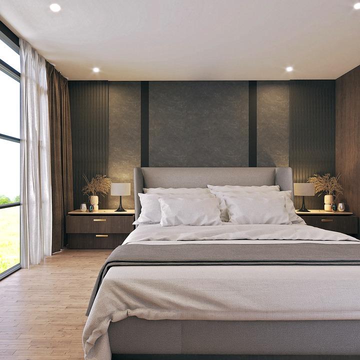 Интериор, Легло, Спалня, Сън, Мебели, Дизайн, Къща