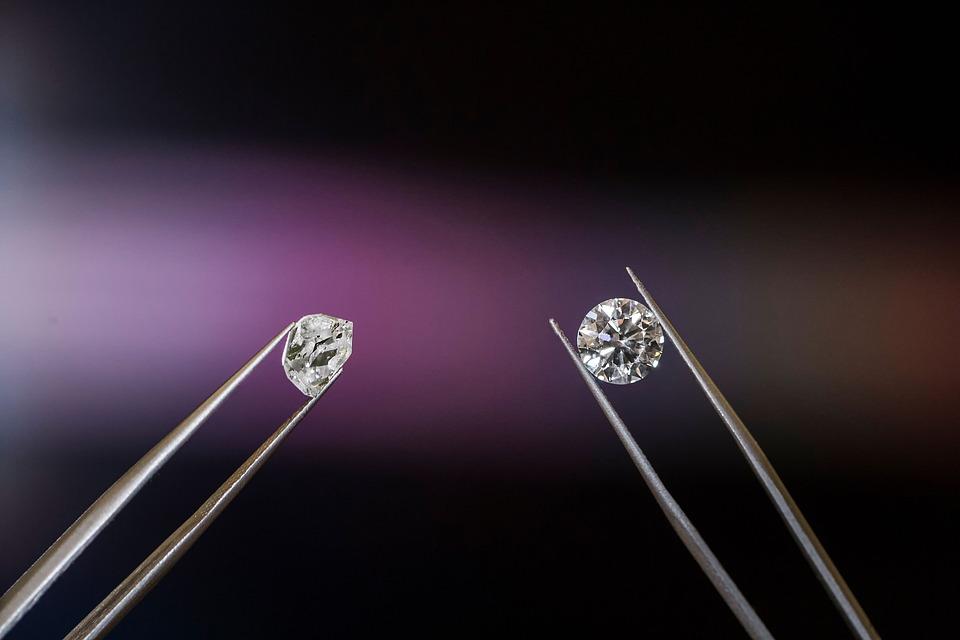 Diamond, Kostbare, Steen, In Het Lab Gekweekte Diamant
