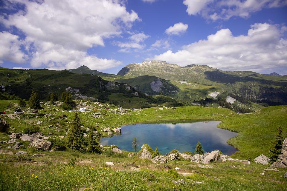 Lac Des Fées, Lac, Savoie, Paysage, Nature, Montagnes