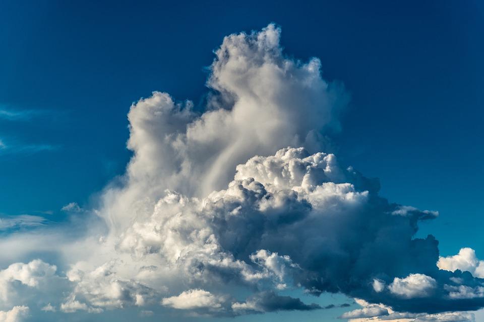 空, 雲, 自然, 青