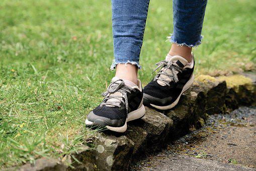 Shoes, Balance, Path, Feet, Stones