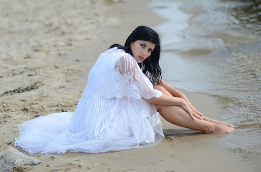Woman, Beach, Summer, Girl, People