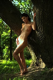 Woman, Naked, Forest, Nude, Model, Body