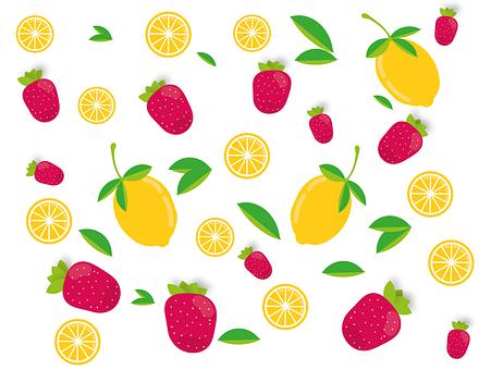 Erdbeere, Zitronen, Obst, Früchte