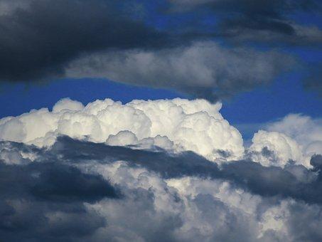 クラウド, 空, 積雲の雲, 天気予報, 光, 神秘的です, 不穏な, 気象学