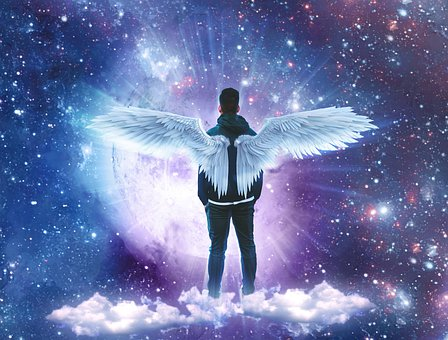 Clouds, Stars, Space, Angel, Michael