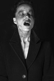 Porträtt, Kvinna, Modell, Pose