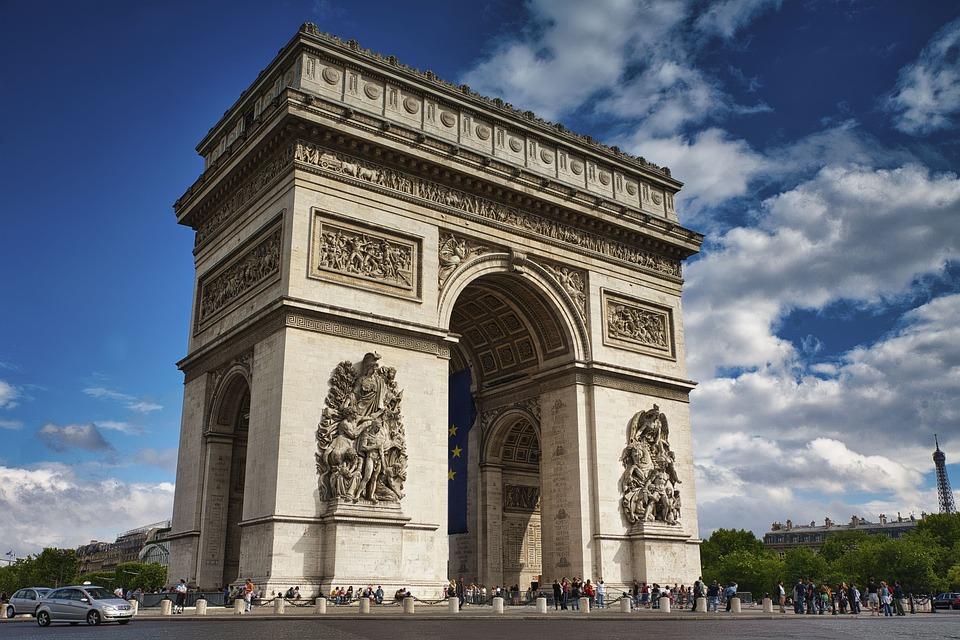 Arc De Triomphe, Paris, Landmark, Famous, France