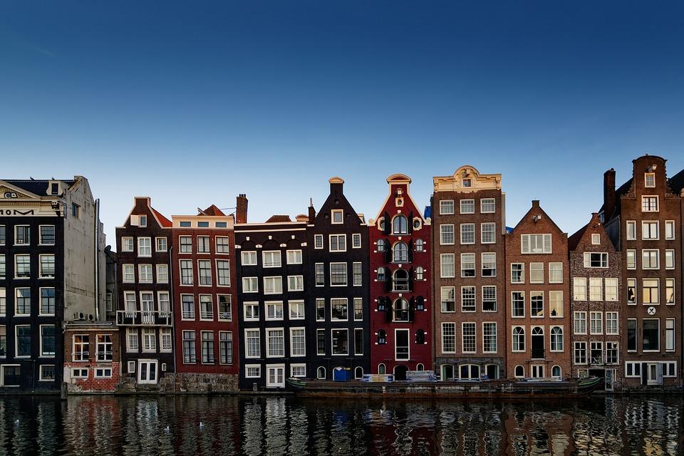 Huizen, Gebouwen, Architectuur, Rivier, Kanalen, Stad