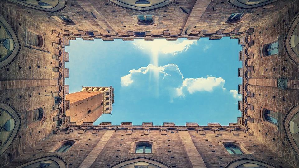 Architettura, Nuvole, Muro, Storicamente, Siena, Italia