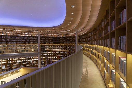 Livros, estantes, livraria, biblioteca