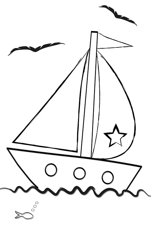 Bateau Dessin Anime Coloration Image Gratuite Sur Pixabay