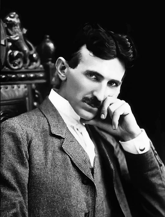 Człowiek, Nikola Tesla, Wynalazca, Nauki, Osoby, Smerf