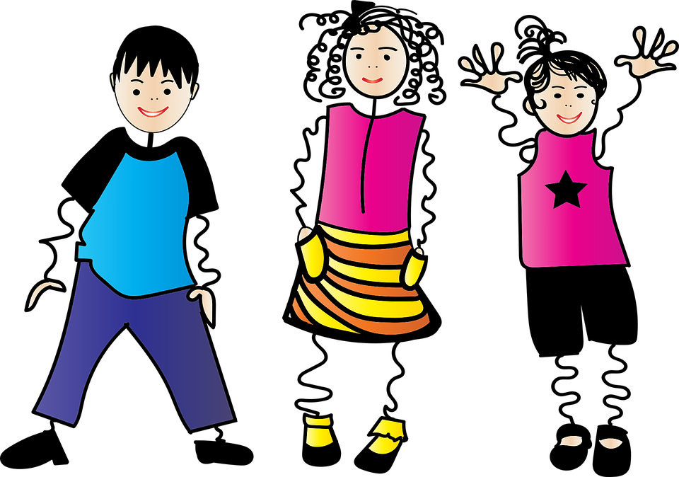 Stick Children, Stickman, Girl, Boy, Children, People