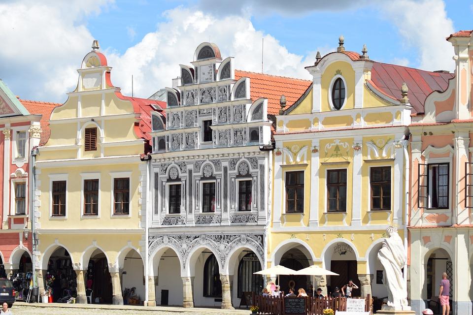 Building, Monument, City, Heritage, Telč, Historical