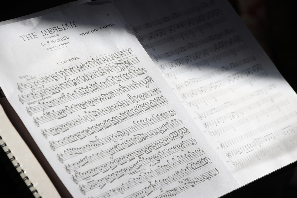 Sheet Music, Musical Notes, Classical, Handel, Piano