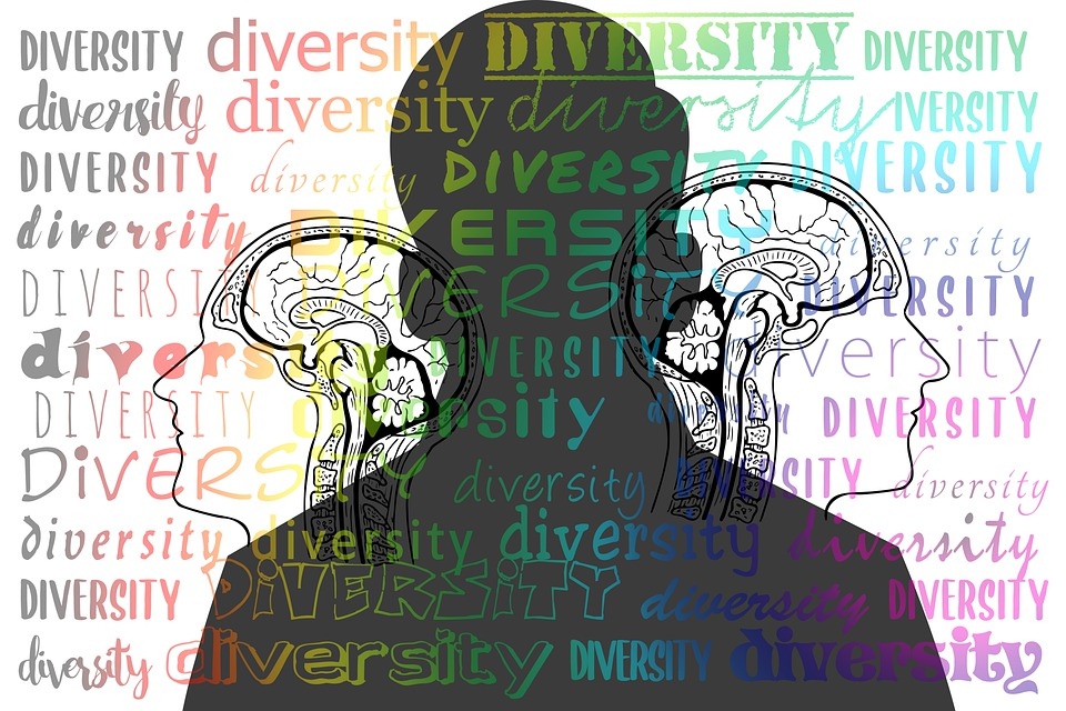 Diversity, Words, Silhouette, Person, Brain, Think