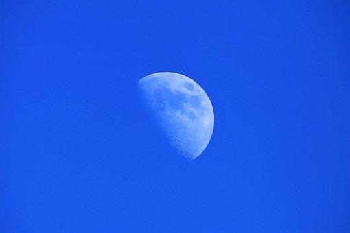 Himmel, Mond, Nacht, Halbmond