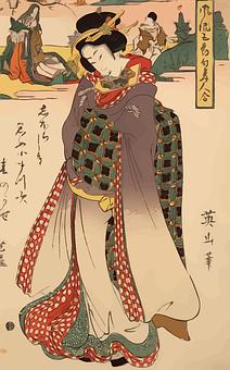 Woman, Geisha, Japan, Japanese, Kimono