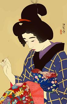 Woman, Geisha, Kimono, Japan, Japanese